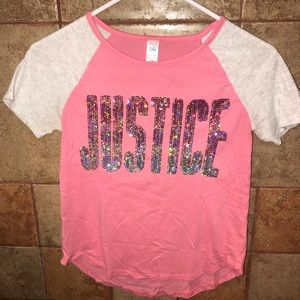 Justice SS Sequins Tee